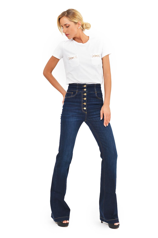 Jeans Abbottonatura in Vista
